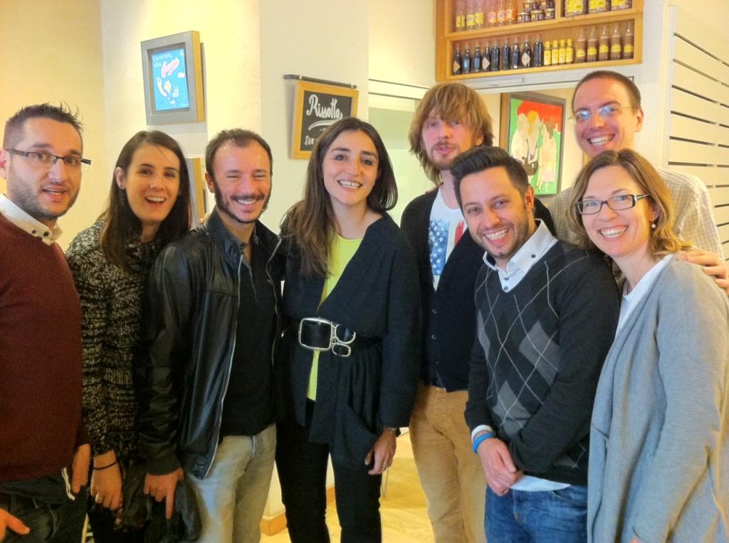 Foto de grup amb @castillamedina, @ainardz, @alexisroque, @rociomsampere, @andrewfunkspain, @albertoalcaraz i Michelle