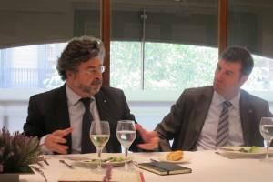 Antoni Castellà (derecha) y Albert Puig, director general de InterMèdia GdC