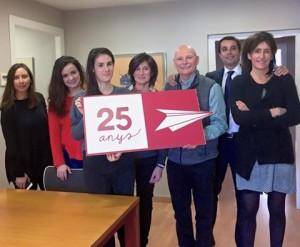 Carlota Roig, Carmen Alba, Aina Rodríguez,Eva Pallàs John Hoffman, Albert Ortas y Arola Bofill